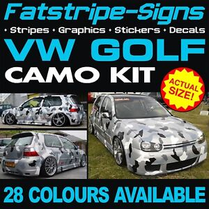 VW GOLF CAMO GRAPHICS STICKERS STRIPES DECALS VOLKSWAGEN V DUB GTI R32 R D 2.0