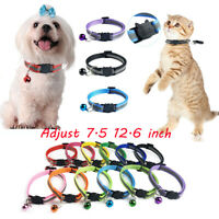 Pet Cat Collar Reflective Flashing Light Up Nylon Night Safety Collars with Bell