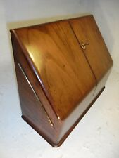 Large Antique Walnut  Desktop Writing Box , Stationery Cabinet     ref 4309