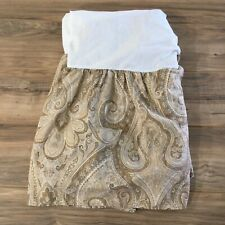 Ralph Lauren Desert Spa Collection Paisley Queen Bed Skirt Tan Gold Beige