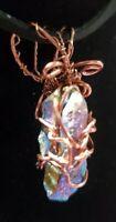 Hematite Wire Wrapped Handmade Gemstone Interchangeable Pendant OOAK Jewelry▪︎