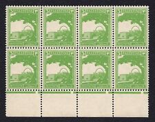 PALESTINE Stamps 1927 - 1945 UNCUT BLOCK OF 8