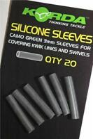 Korda 3mm Silicone Sleeves Pack of 20 Camo Green