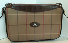 Vintage Burberry Burberrys Striped Check Shoulder Handbag Purse large 12by8 inch