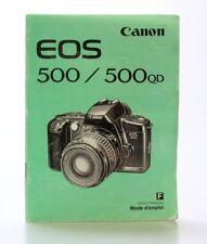 Mode d'emploi CANON EOS 500 et 500 QD en Français  (Réf#M-084)