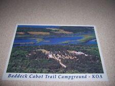 1980s BADDECK CABOT TRAIL KOA CAMPGROUND CAPE BRETON ISLAND NS. VTG POSTCARD