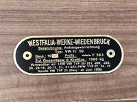 VW Westfalia T1 T2 Splits screen bus brass badge as original for tow bar C9766