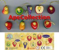 Set 9 Figuras Colección Piolin De Frutas Mini Winnies Estilo Tweety