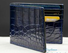 Mens handmade alligator leather wallet. Ready to ship