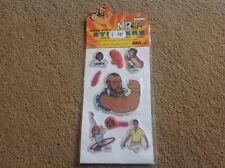 MR T SUPER PUFFY STICKERS A-TEAM B.A. Baracus 1983 1980s Ex Shop Stock FREE POST