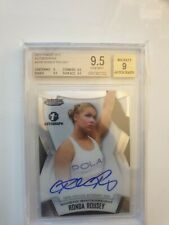 2012 Topps UFC Finest UFC Ronda Rousey Autographed Rookie Card BGS 9.5 Gem Mint
