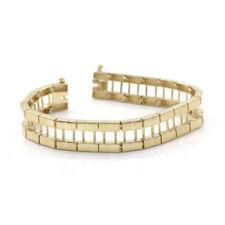 Exquisite 14k Yellow Gold Line Bracelet Jacket | SJS