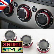SmartStyle RED Aluminium Heater Knobs Buttons for Ford Focus/C-Max/S-Max/ST