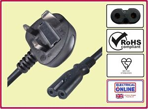 UK Power Lead Cable Canon Pixma MX435 MX455 Mx515 MX525 MX700 MX714 Printer