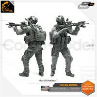 1/35 Skeleton soldier Resin Kits Unpainted Figure GK YUFAN Model