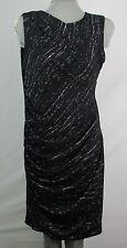 DKNY Black Ruched Women's Dress Gown Size Large K1000