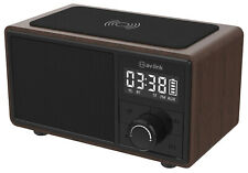 Fusion Rechargeable Bluetooth Speaker with Clock Radio & Wireless Charging Plate