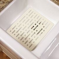 Rubbermaid  Small Sink Mat  Bisque  10.7 in. W x 0.4 in. H x 12.7 in. L