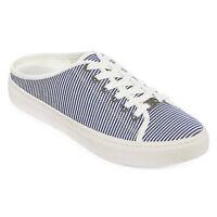 LIZ CLAIBORNE Womens Wayna Blue Striped MULES Shoes 7.5M 8M 8.5M 9M 9.5M NWOB