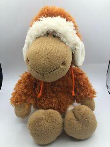 NICI Wild Friends White Sheep Brown Hood Plush Kids Soft Stuffed Toy Animal Doll