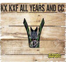 KAWASAKI KXF KX 65 85 125 250 450 Frontal Guardabarros Gráfico-Pegatina-Calcomanías-Tarjetas