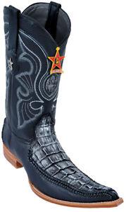 Los Altos Black / Silver Braid W/Deer 6X Toe Cowboy Boots 96TR0191 Size 8.5 EE