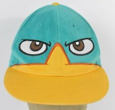 Blue Perry the Platypus Face Embroidered Baseball Hat Cap Adjustable Snapback