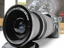 Ultra Wide Angle Macro Fisheye lens for Nikon d5500 d5300 d7100 18-200 AF-S  VR