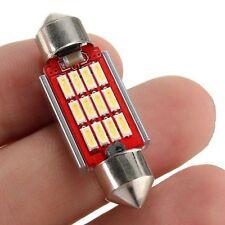 2 x White 42mm Festoon Canbus Bright LED Bulbs 576, 578, 211-2, 212-2 (White)