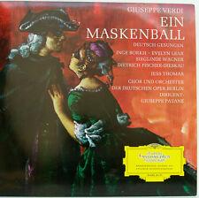 "UN VERDI MASKENBALL BORKH LEAR WAGNER FISCHER-DIESKAU G. PATANE 12"" LP (d119)"