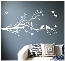 Large Tree Branch Wall Decal Deco Art Sticker Mural with 10 Birds