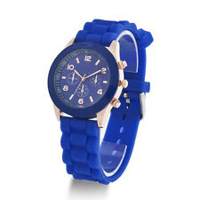 Colorful Women Men Geneva Silicone Jelly Gel Quartz Analog Sports Wrist Watch LG