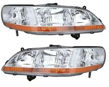 HEADLAMP LIGHT LEFT & RIGHT PAIR SET FITS 1998 1999 2000 HONDA ACCORD SDN/CPE