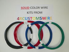 18 GXL HIGH TEMP AUTOMOTIVE WIRE 4 SOLID COLORS 25 FEET EACH 100 FEET TOTAL