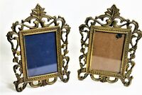 Two Ornate Victorian Style Solid Brass Antique Frame