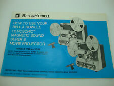 Bell & Howell Projector Model 1742 And 1744 Original Instruction Owners Manual