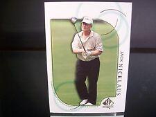 Rare Jack Nicklaus Upper Deck SP Authentic 2001 Card #41 Golf