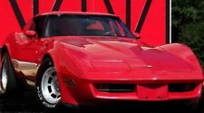 1 1980s Vette Corvette Chevy 43 Vintage Sport Car 24 Carousel Red 12 Metal 18