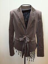 Ann Taylor Velvet Tie Front Blazer/Jacket - size 0 - Worn Once - Gray