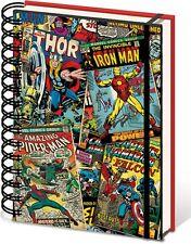 Tapa Dura De Marvel Comics 3D Lenticular A5 Portátil Nuevo Forrado Mercadería Oficial