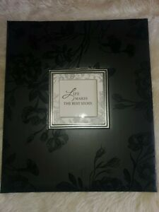 Hallmark Life Makes The Best Story Photo Album - black with floral embossed. 8pg