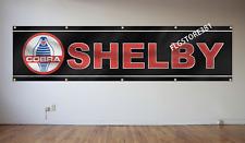 Shelby Cobra Banner Flag 2x8Ft Motorsport Car Racing Garage Man Cave Flag