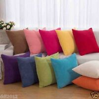 Square Corduroy Throw Pillow Case Cushion Cover Waist Office Home Sofa Decor