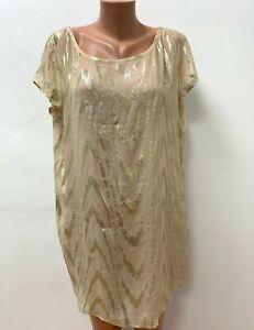 GANNI size M / L 78%SILK Tunic Dress Top Pink Gold