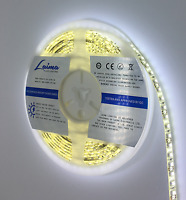 Led Strip Lights 12V 5M Waterproof Tape White IP65 3528 4500 Lm Flexible Rope UK