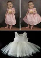 BABY  IVORY PETTICOAT CHRISTENING DRESS FLOWER GIRL  LIGHT FULLNESS STIFF NET