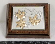 Vintage Wood and Sterling Silver Bas Relief Stationary Box Paolo Rossini g25