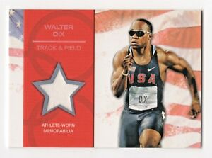2012 Topps USA Olympic Authentic Team Relics Walter Dix Track and Field Medalist