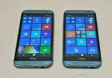 HTC ONE M8 WINDOWS SMART PHONE 32GB GUNMETAL GRAY AT&T *LOT OF 2*