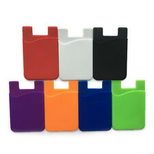 Silicone Wallet Credit Card Cash Sticker Adhesive Holder Case For iPhone&Samsung